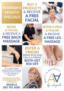 Woman's month specials!!!