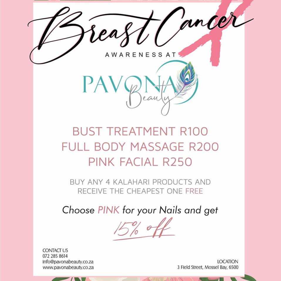 Breast Cancer Awareness Month - Specials!