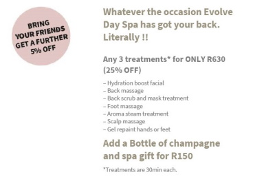 THIS OCTOBER - Any 3 Treatments for ONLY R630!