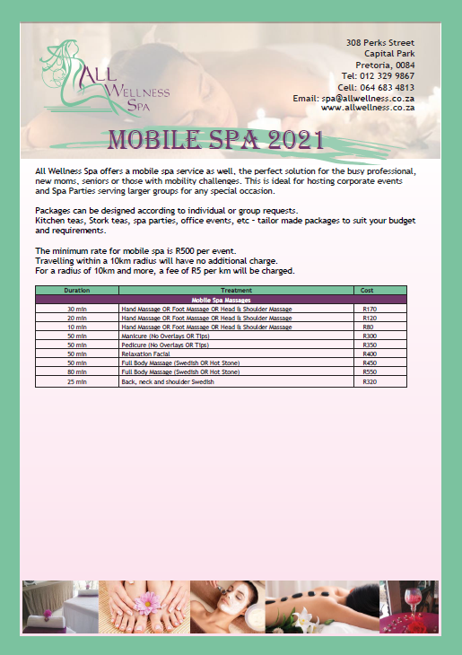MOBILE SPA treatments!
