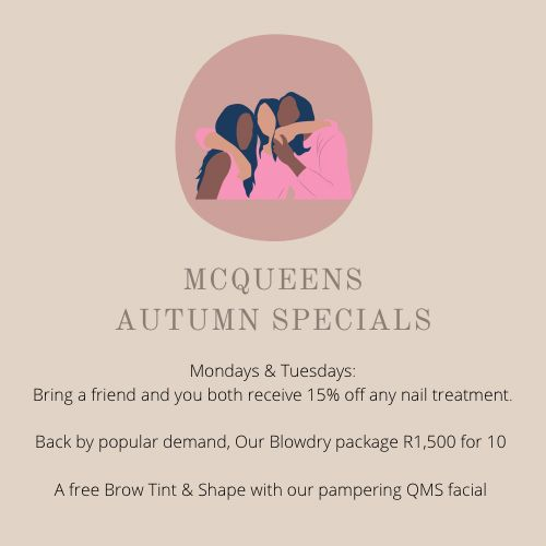 Autumn SPECIALS valid until 31 May 2021! Hurry to don't miss out!!!