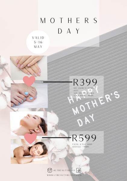 Mother's Day SPECIAL PACKAGES!!!