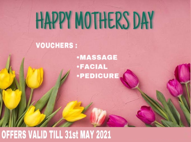 HAPPY MOTHER'S DAY! Vouchers for massage, Environ facials & Mediheel pedicures with colour. All services get an extra 15min scalp or foot massage FREE. Mobile services for all these treatments are available. Come and see our new layout!
