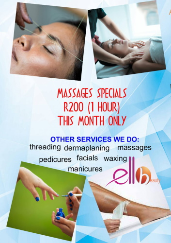 MASSAGES Special for the month of MAY!
