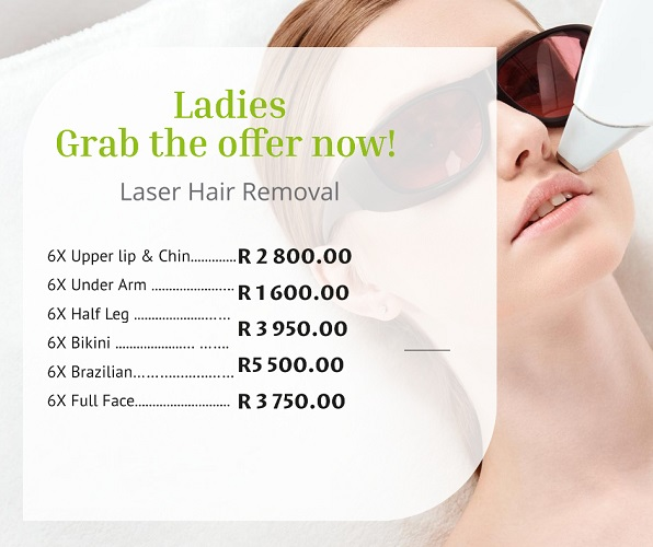 Laiser Hair Removal SPECIALS!!!