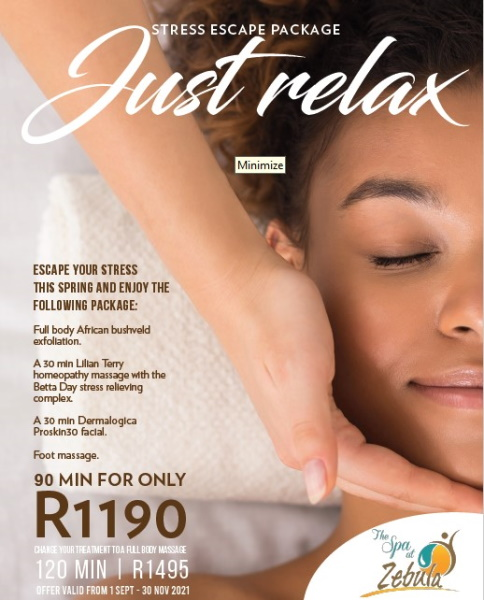 Stress Relax Package valid for 1Sep-30Nov2021!!!